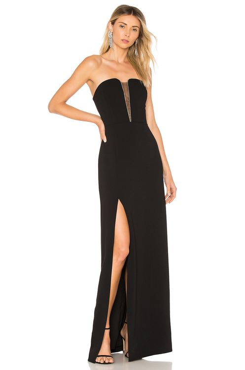 Halston Heritage Strapless Fitted Gown