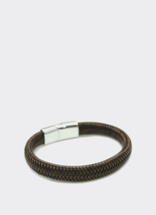 The Cufflinks Store Brown Wire Leather Bracelet