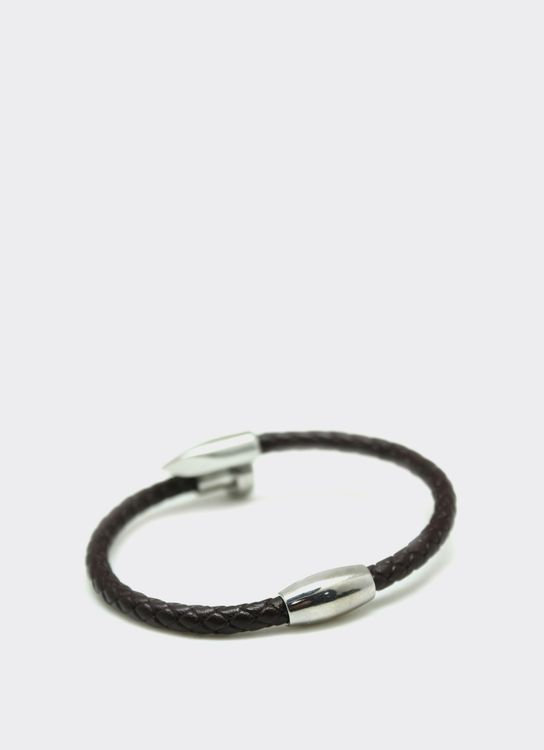 The Cufflinks Store Brown Nail Leather Bracelet