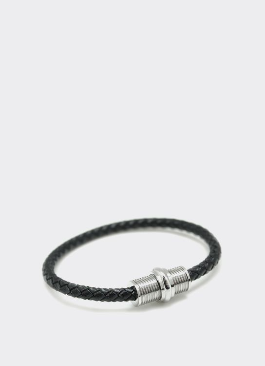 The Cufflinks Store Black 6 Leather Bracelet