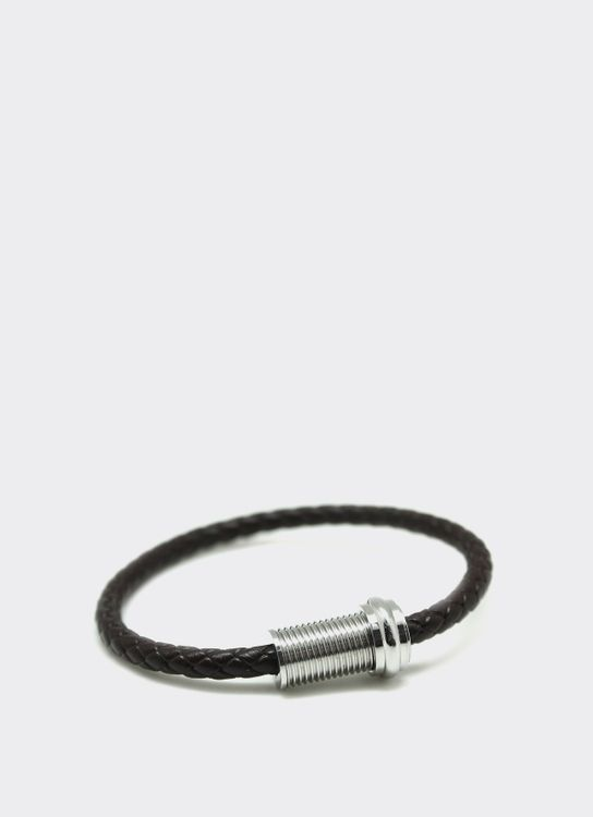 The Cufflinks Store Brown 6 Leather Bracelet