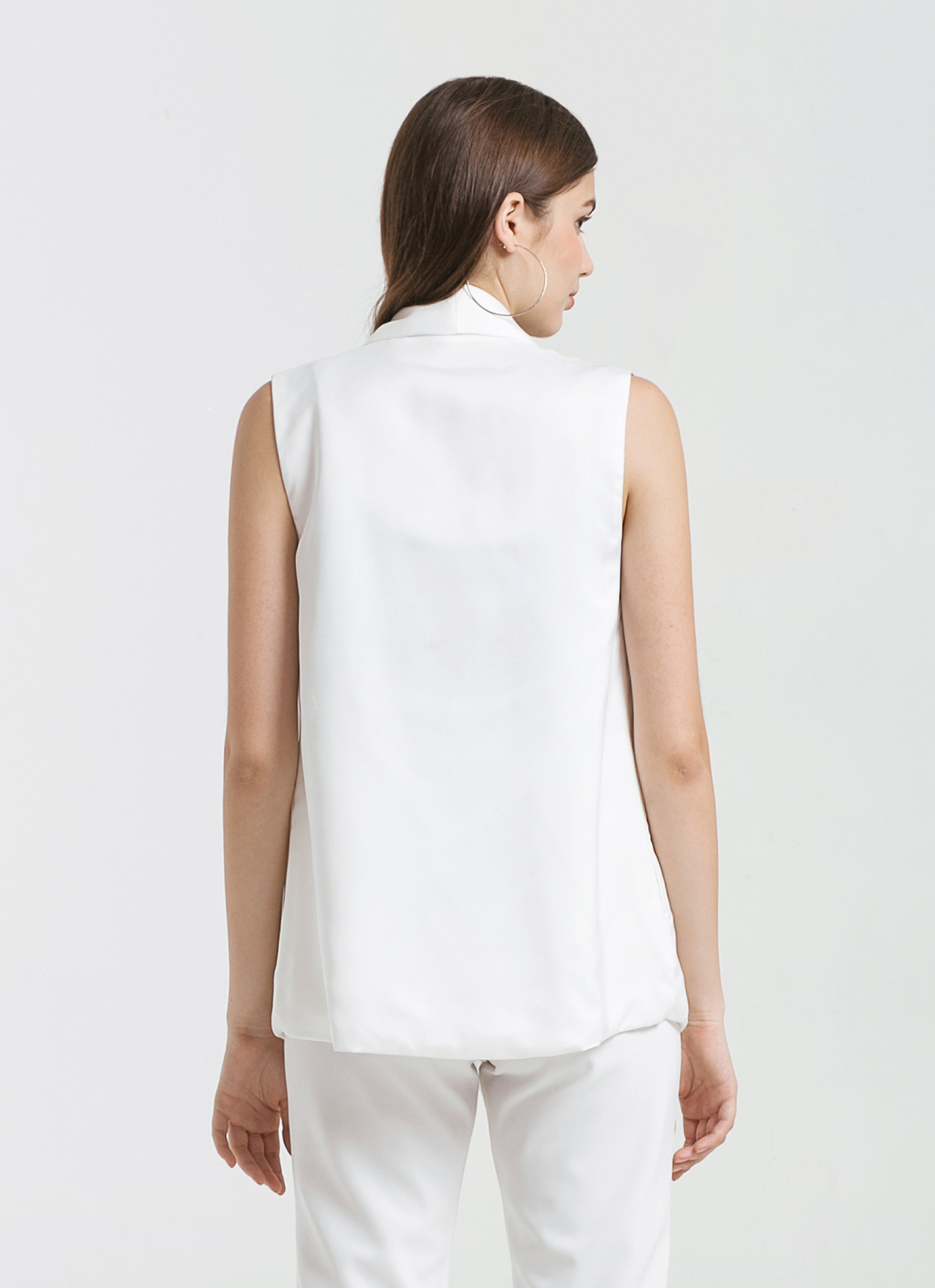 CLOTH INC White Waterfall Vest