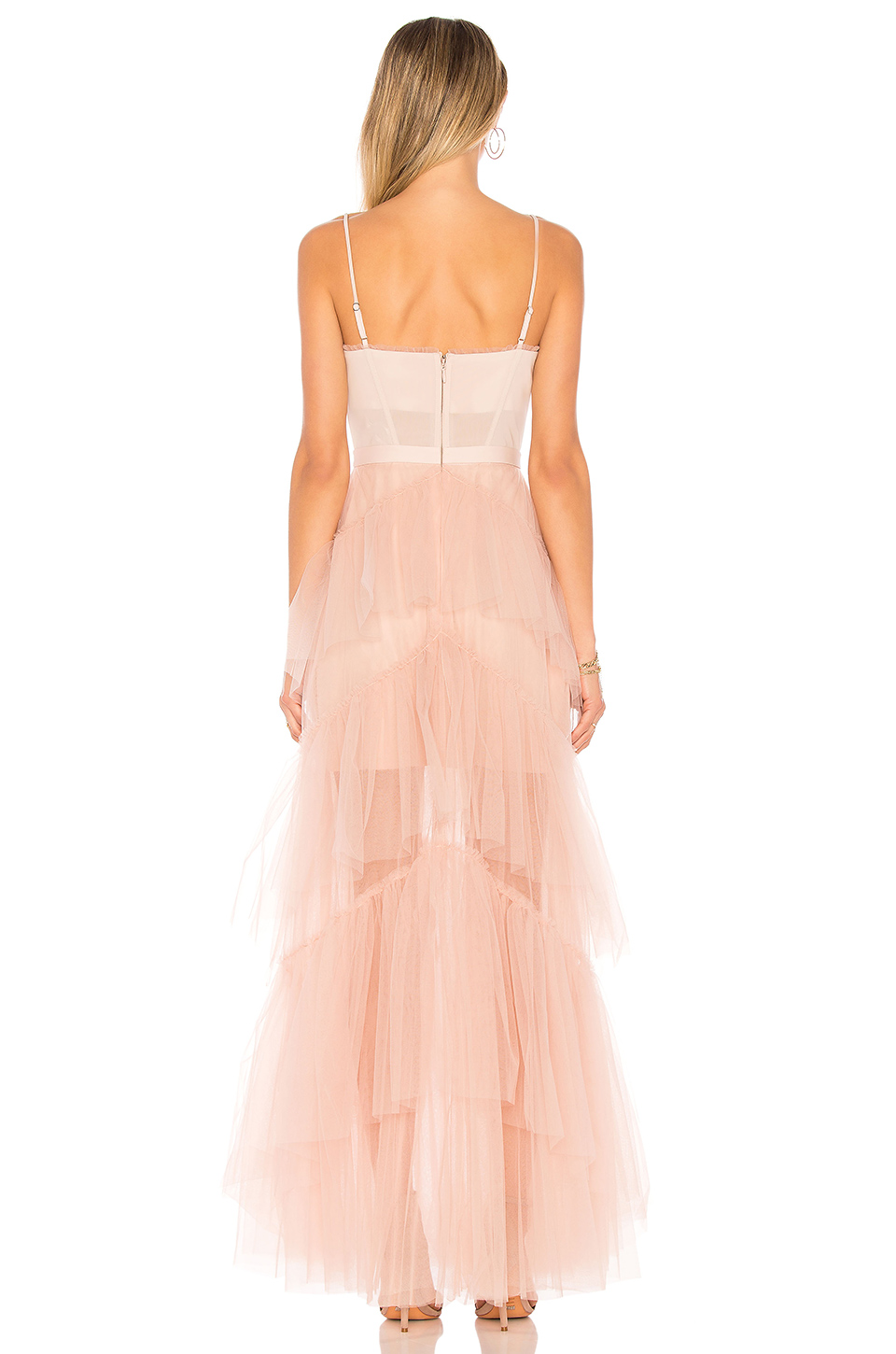 9e4ba8b32 Buy Original BCBGMAXAZRIA Oly Long Tulle Gown In Bare Pink at ...