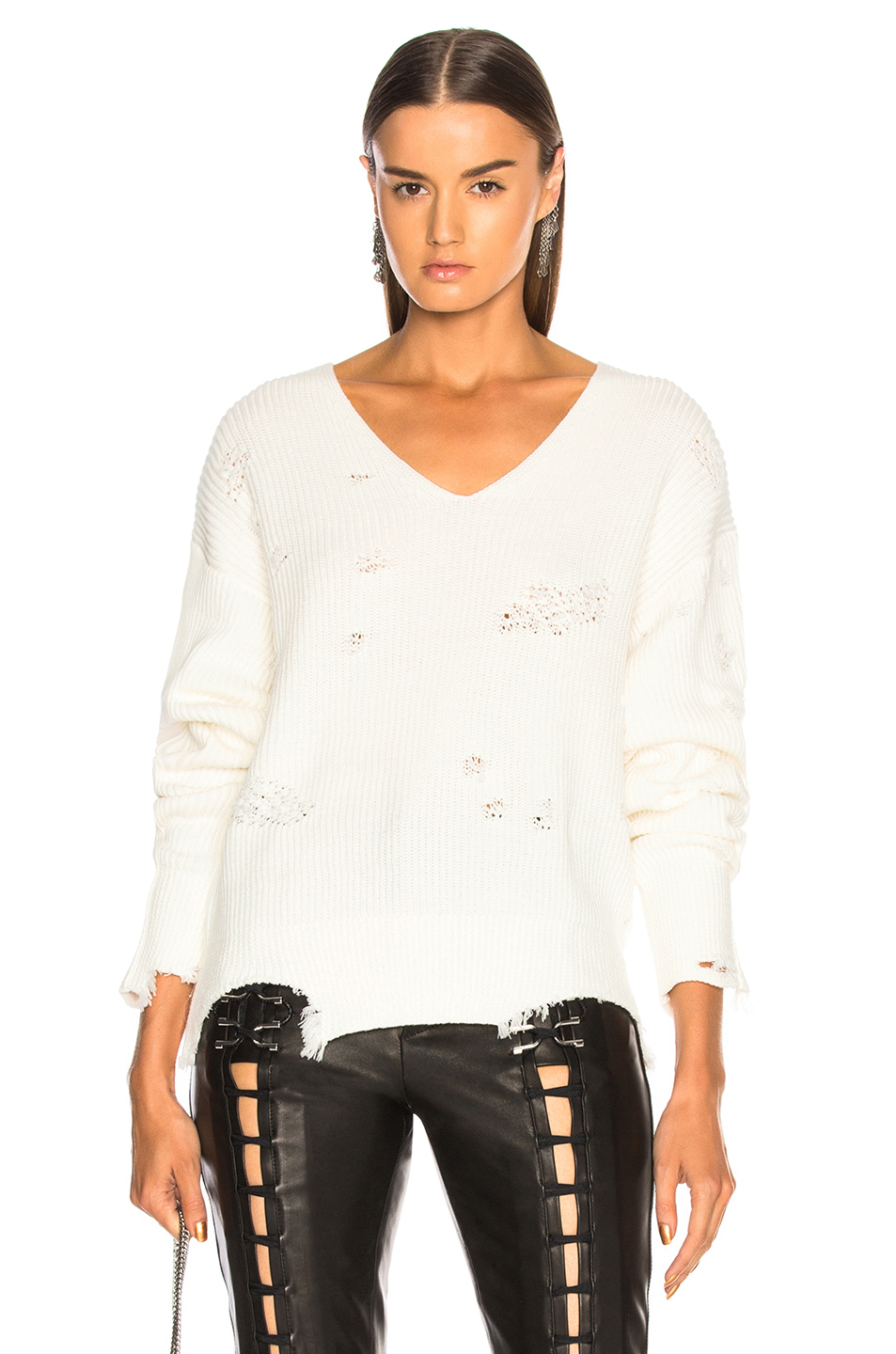 a882eb6aa1ee1 Buy Original Helmut Lang Distressed Longsleeve V Neck Sweater at ...