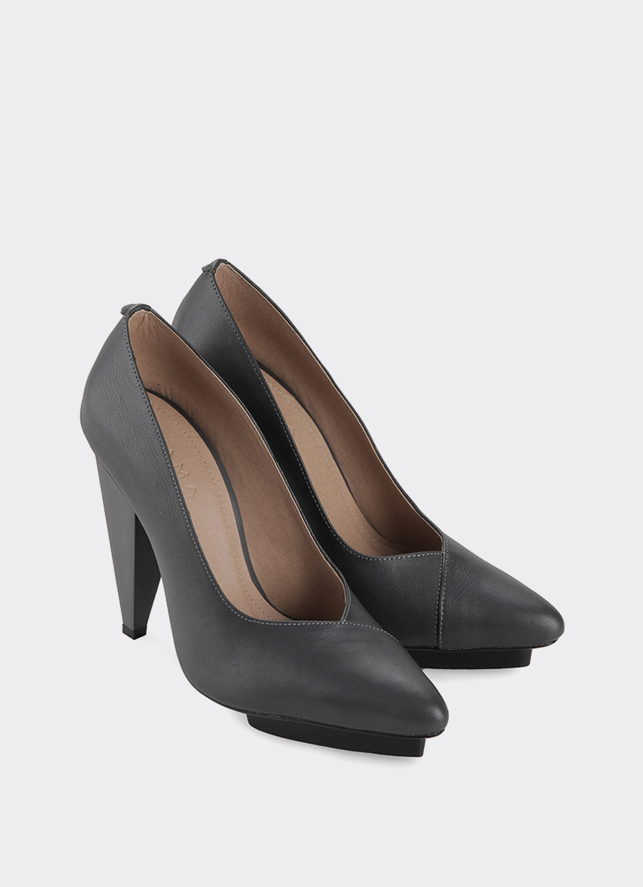 Drama Shoes Gray Ziyi Heels