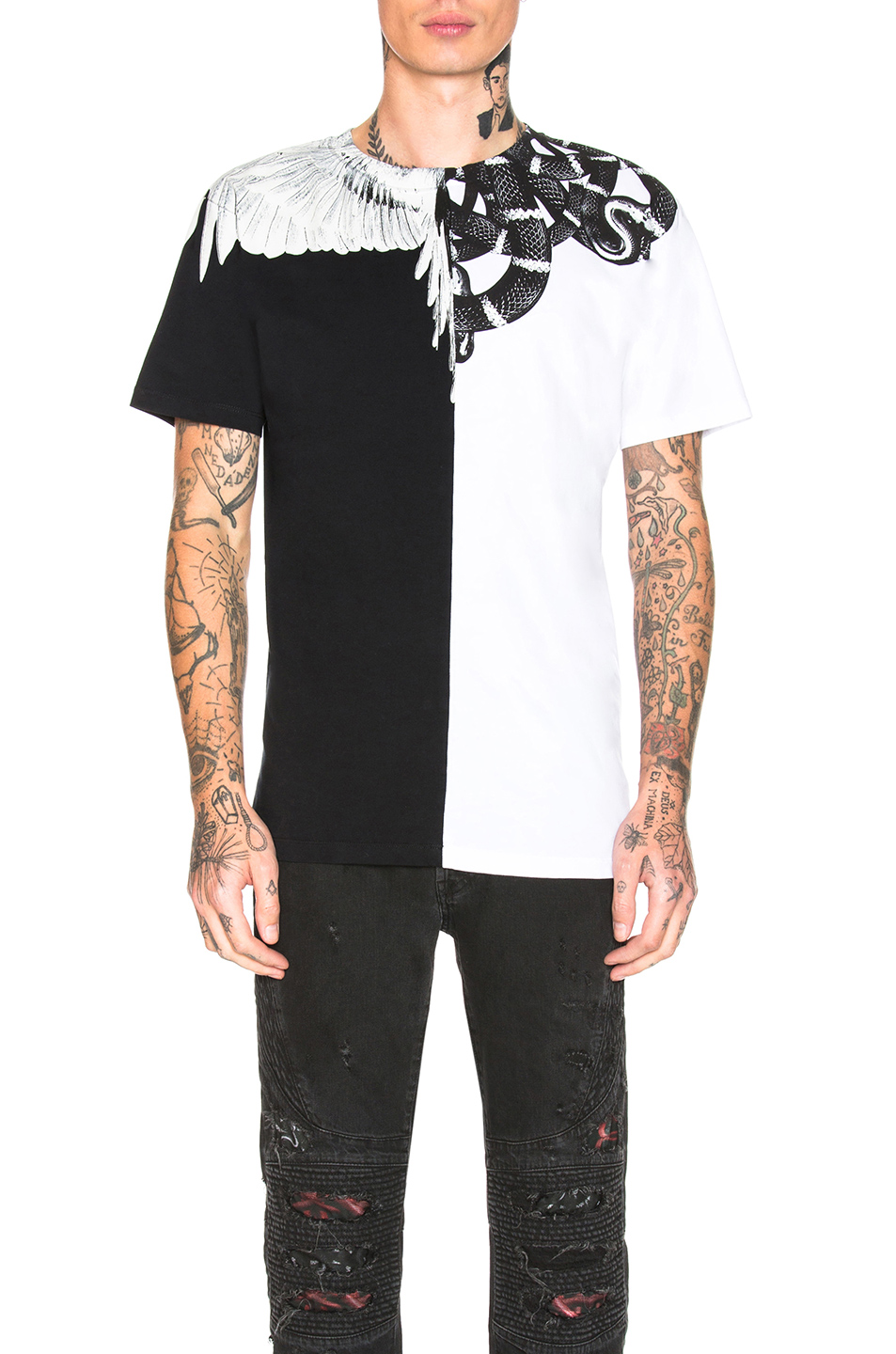 0a1a35a1 Buy Original Marcelo Burlon Snake Wing Tee at Indonesia | BOBOBOBO