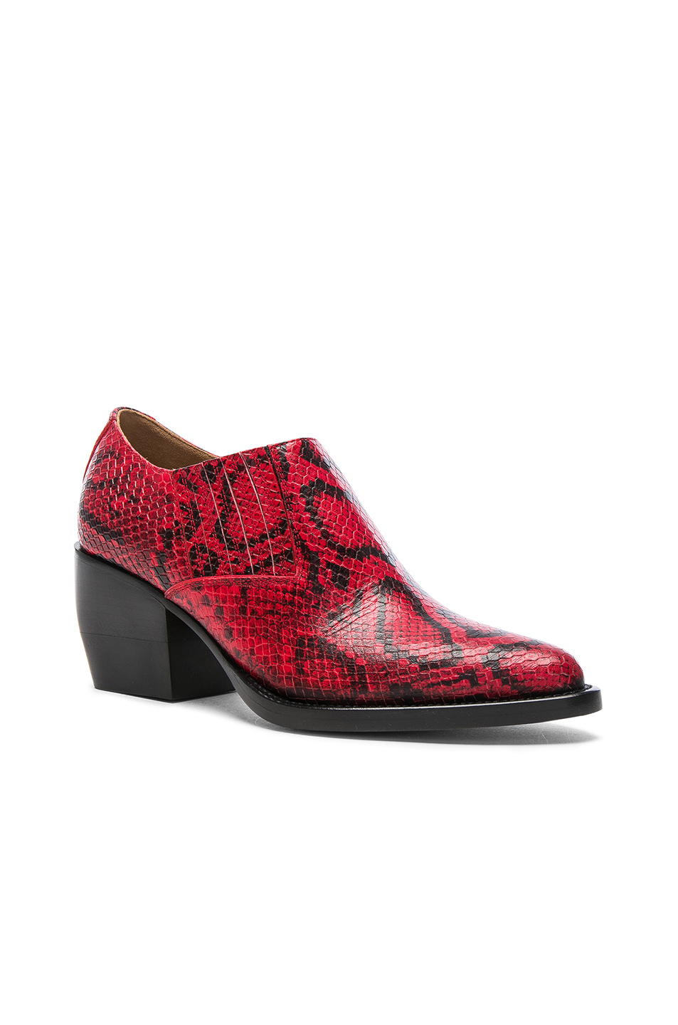 94b4b8d84a Rylee Python Print Leather Ankle Boots, Chloe