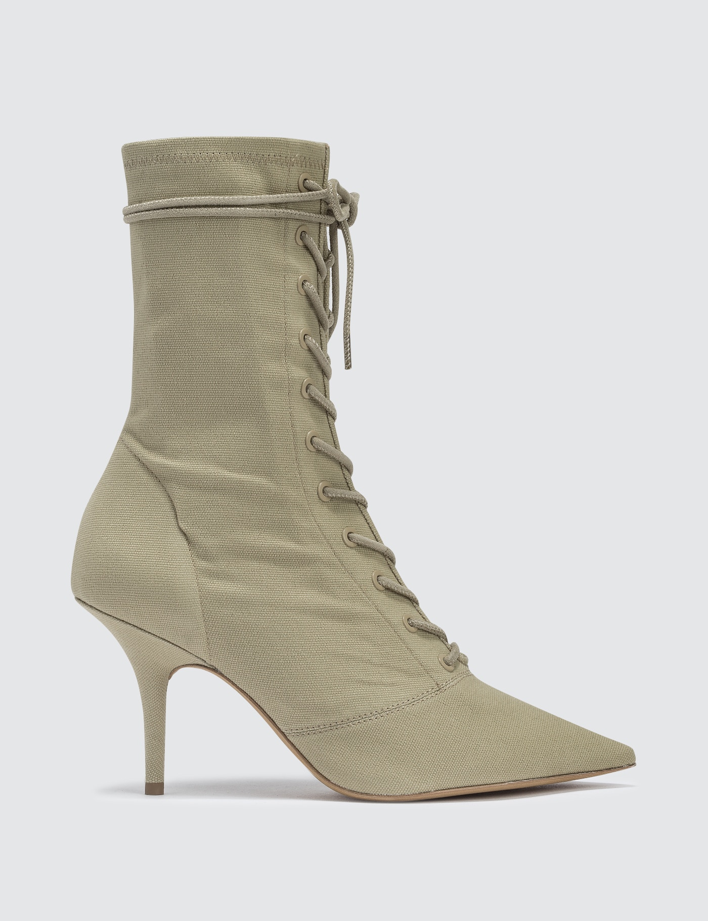3eedaf06ebd05 ... Yeezy Season 6 Women s Lace Up Ankle Boot In Stretch Canvas 90mm ...