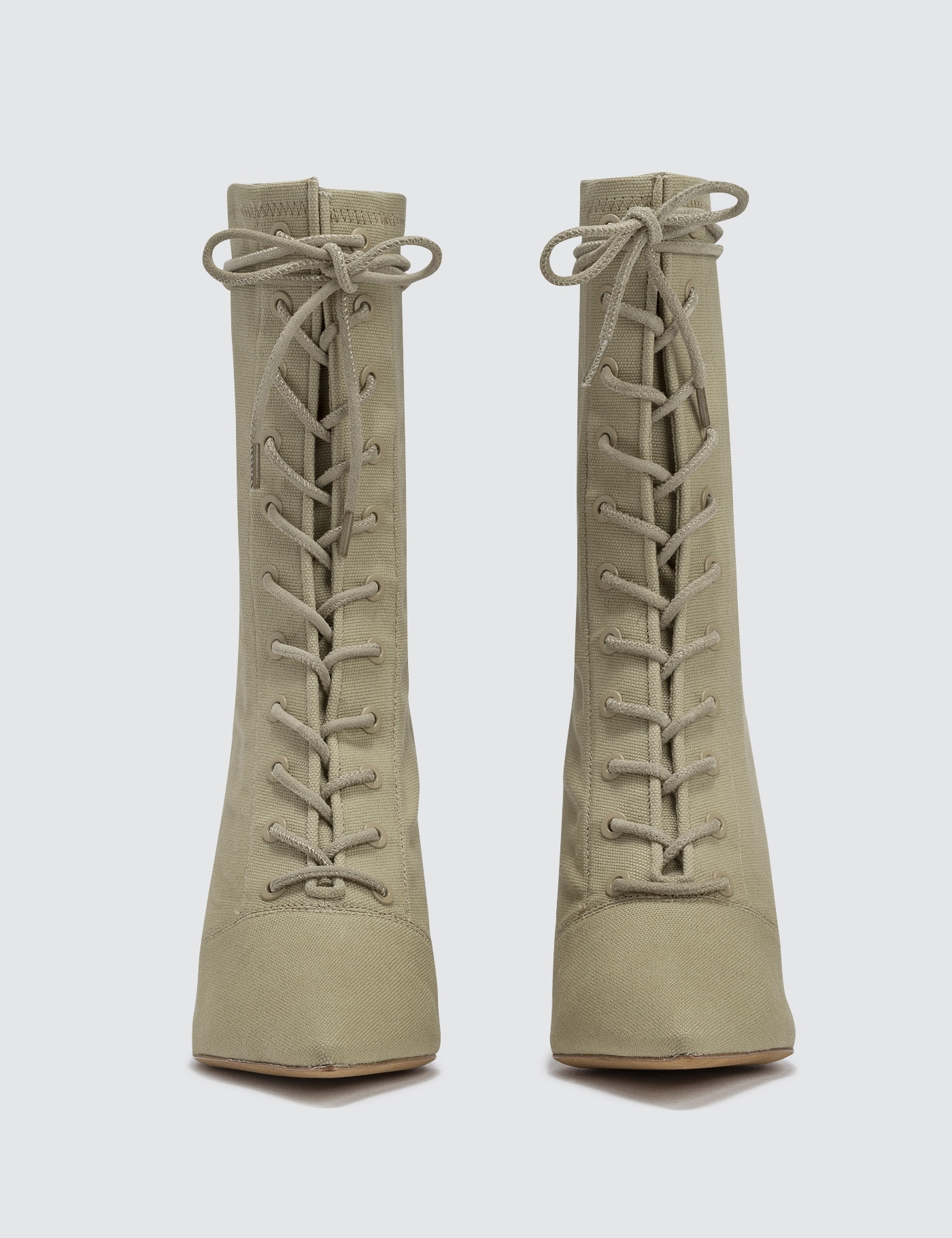 8eefc4f1cc9 ... Yeezy Season 6 Women s Lace Up Ankle Boot In Stretch Canvas 90mm Heel  ...