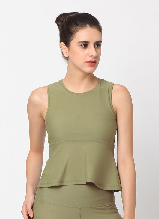 Cuca Active Olive Paris Tank Top