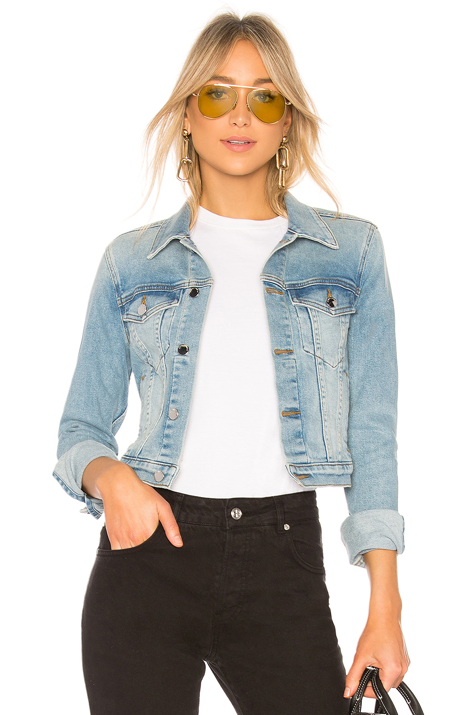 a346dd7785b74a Buy Original COTTON CITIZEN Crop Denim Jacket at Indonesia