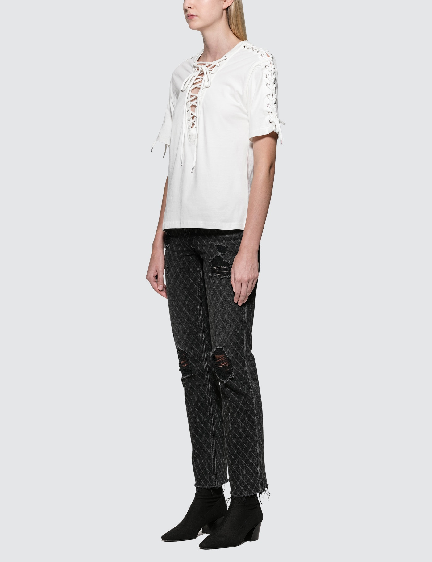 McQ Alexander McQueen Laced S/S Top