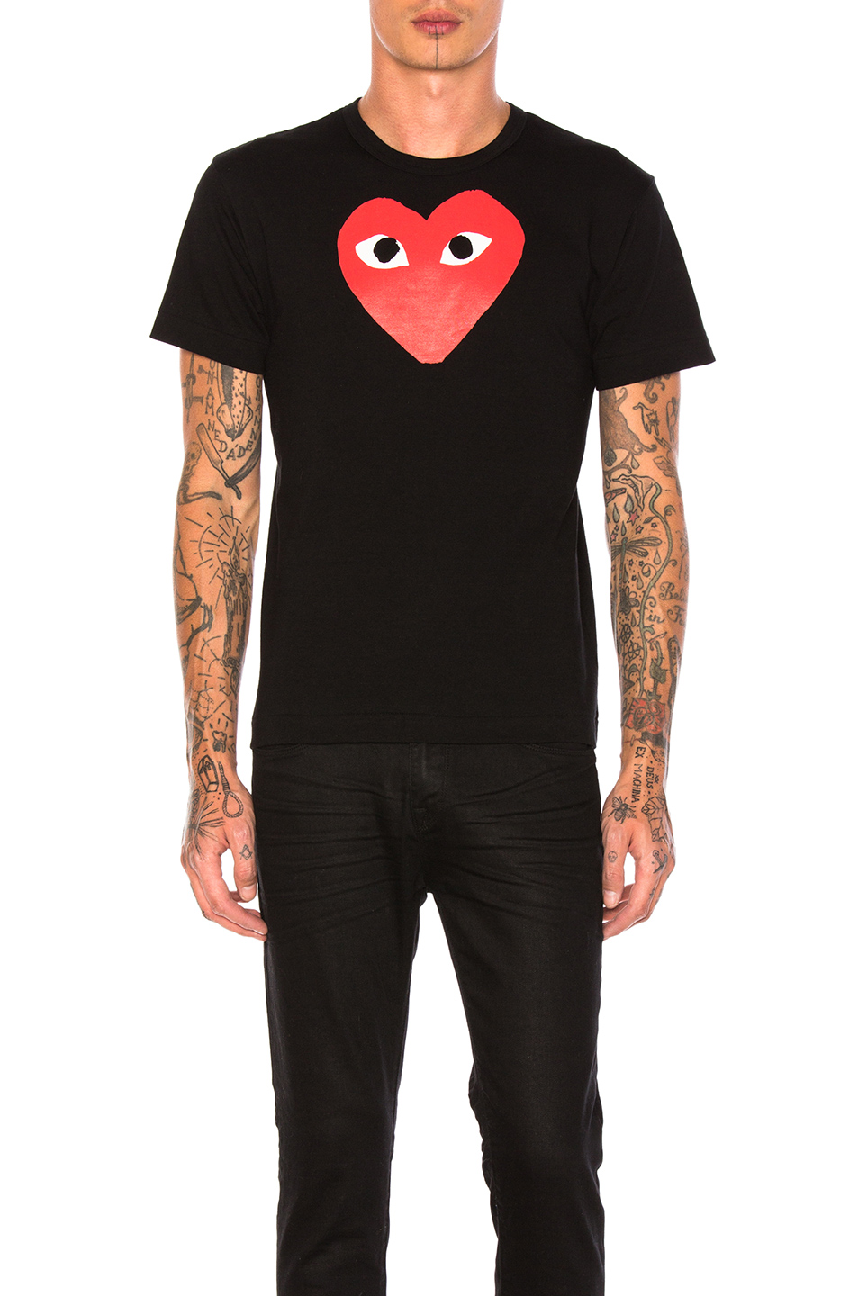 d4d12ccaa9f2 Buy Original Comme Des Garcons PLAY Printed Red Heart Cotton Tee at ...