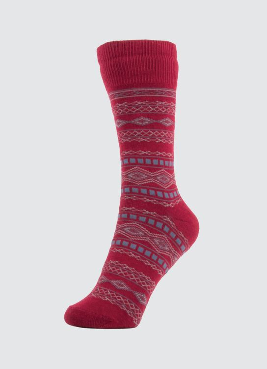 Pattent Goods Red Holo Socks