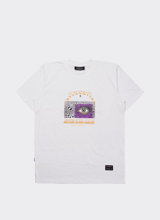 Influential Syndicate White Sniffing Basic T-Shirt