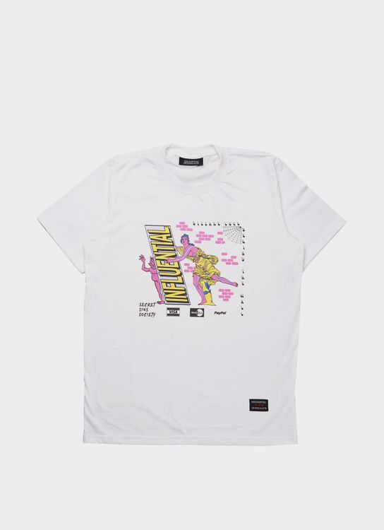 Influential Syndicate White SSS Basic T-Shirt