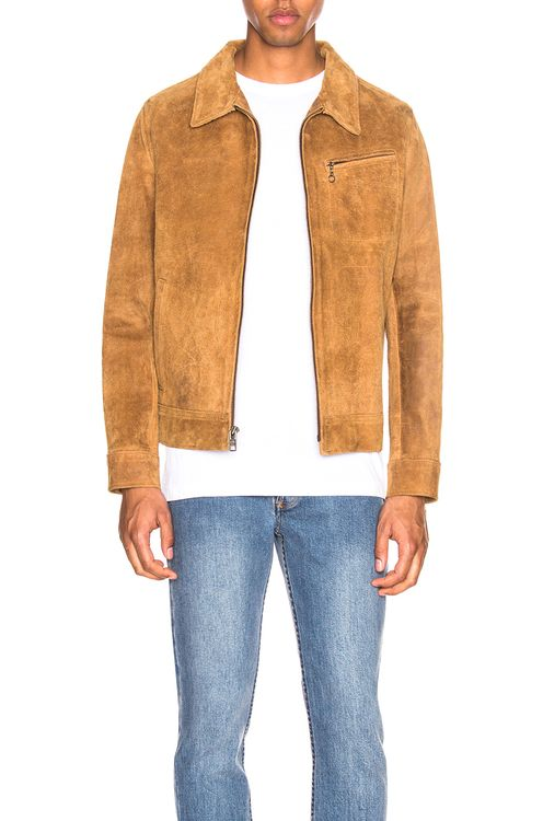 Schott Duke Unlined Rough Suede Jacket