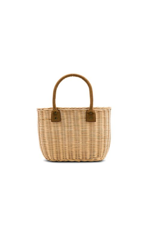 Hat Attack Wicker Small Basket Bag