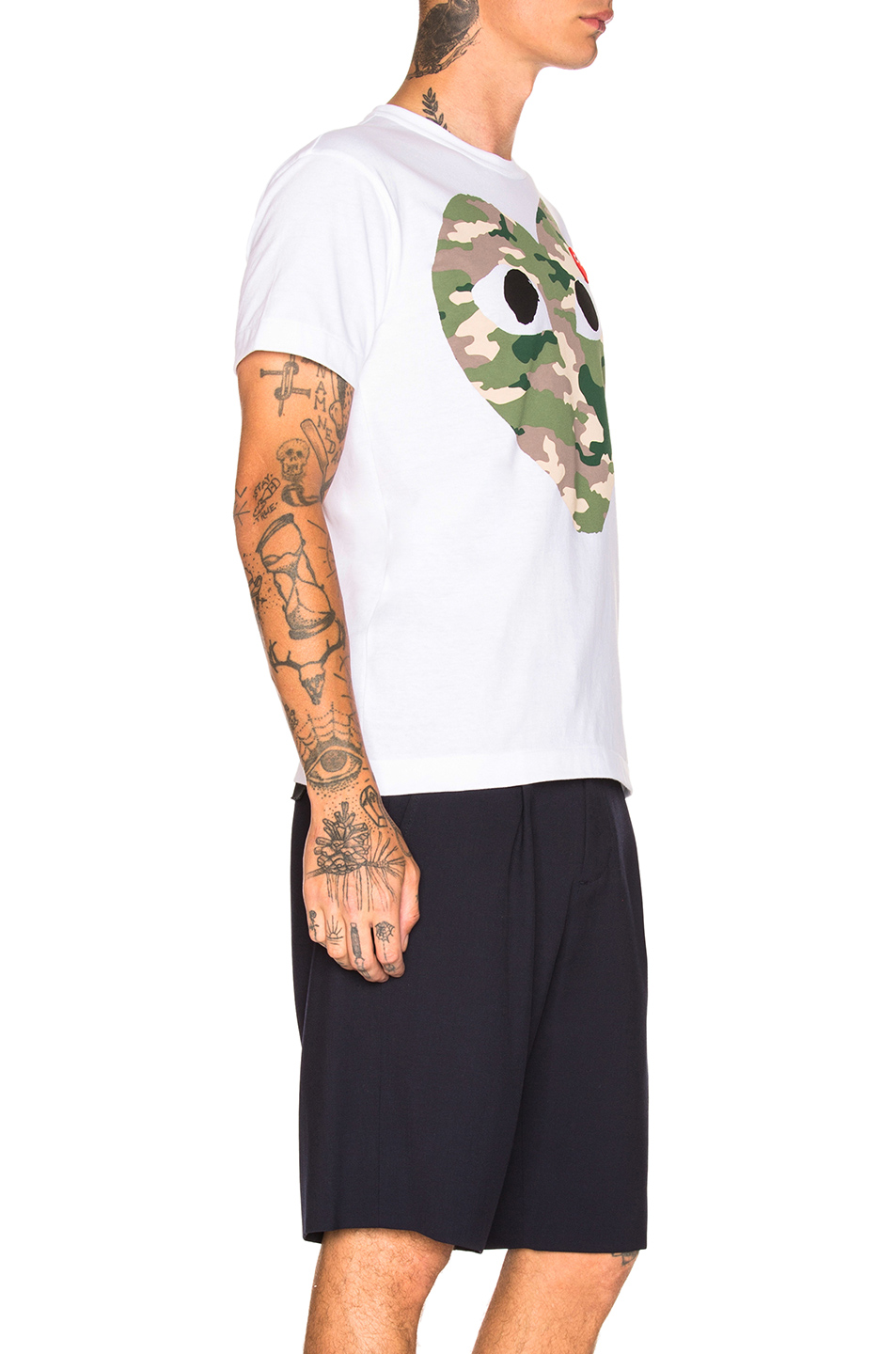 Comme Des Garcons PLAY Camouflage Tee