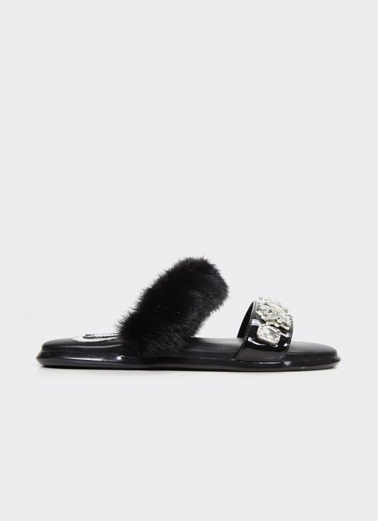 Winston Smith Black Venus Sandals
