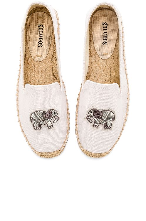 Soludos Elephant Beaded Smoking Slipper
