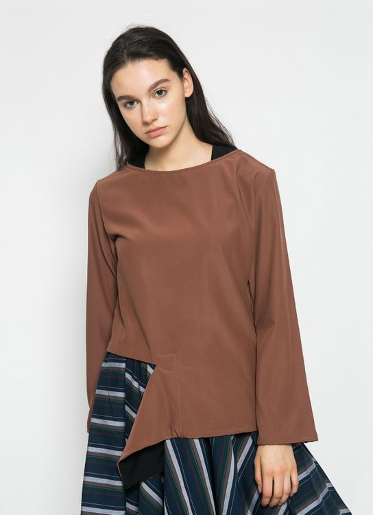 Henrixa Copper and Black Margot Top
