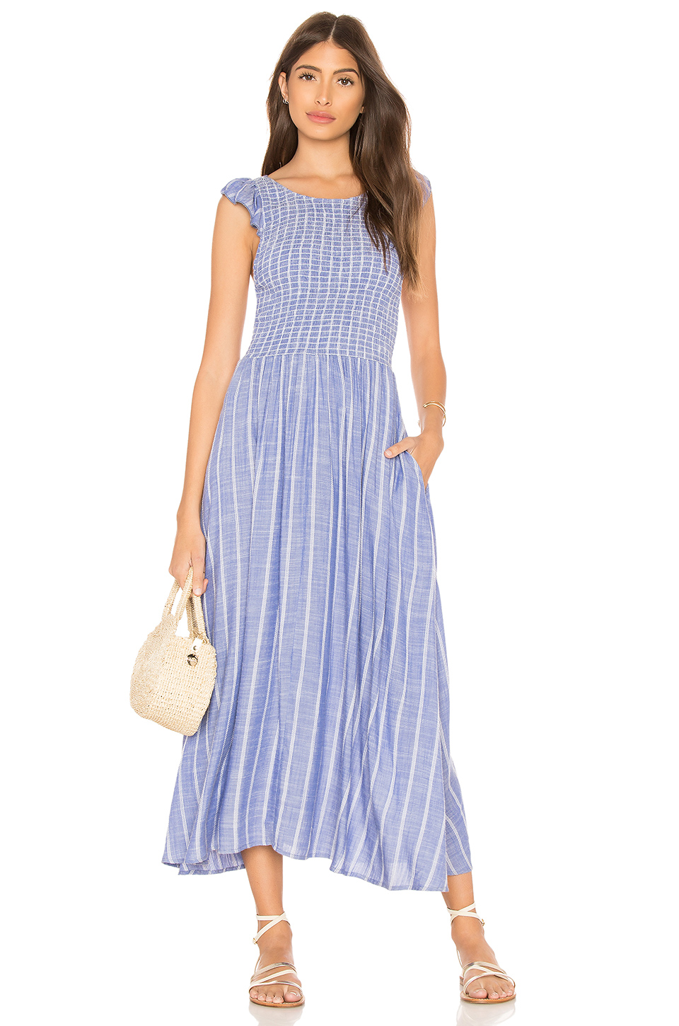 8d5d46bdc157 Buy Original Free People Chambray Butterflies Midi Dress at ...