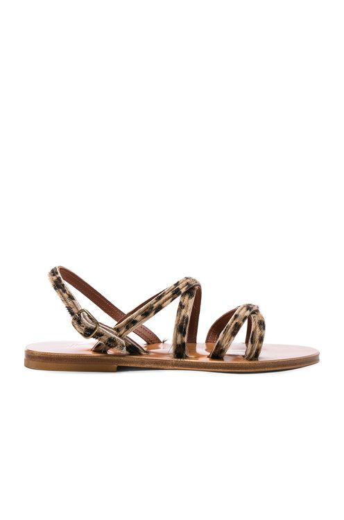 K. Jacques Calf Hair Datura CC Sandals