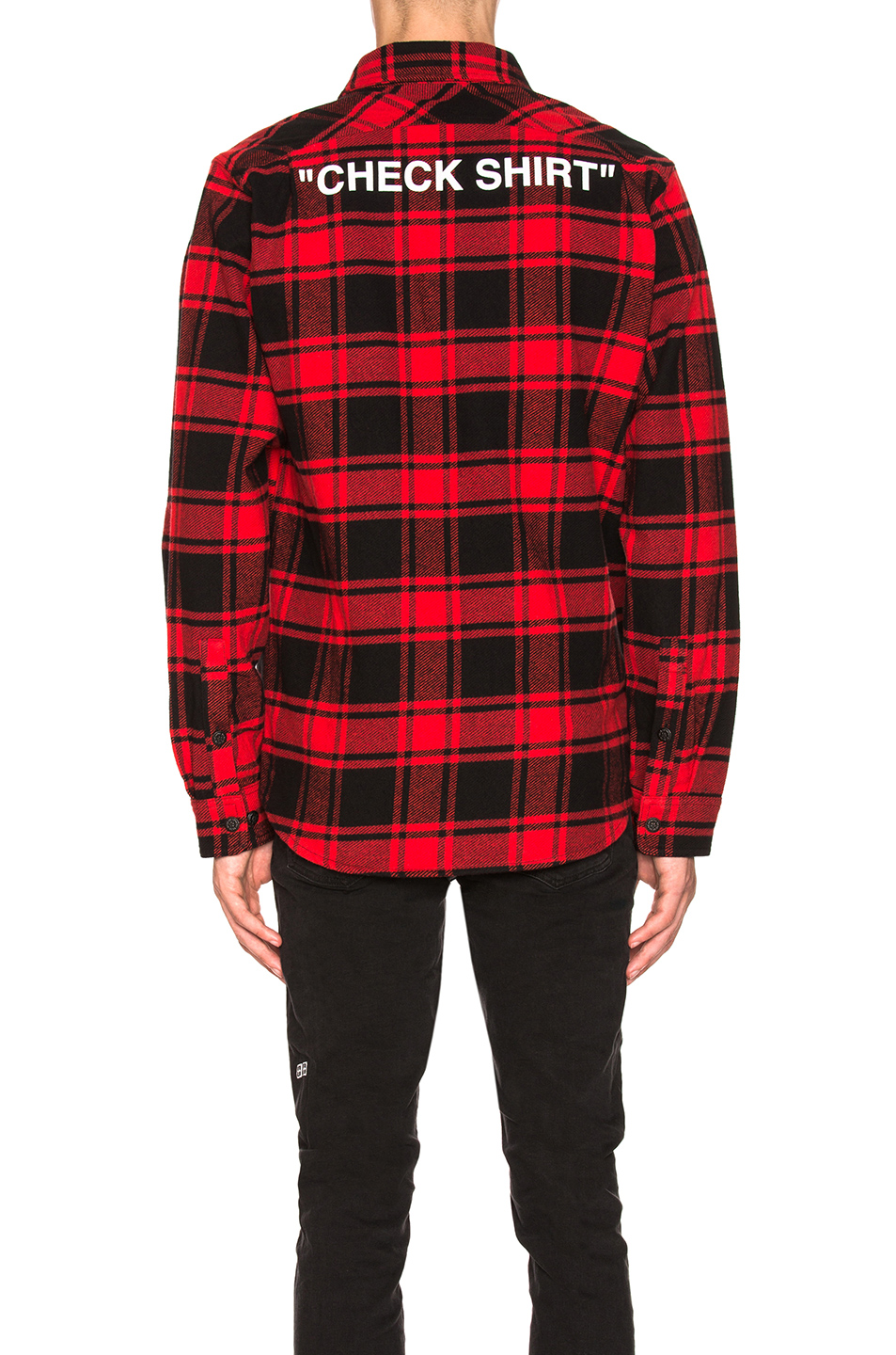 bd1c3ac59744 Buy Original OFF-WHITE Quote Flannel at Indonesia