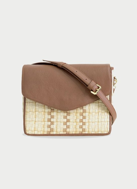 Chameo Couture Caramel Quinn Sling Bag