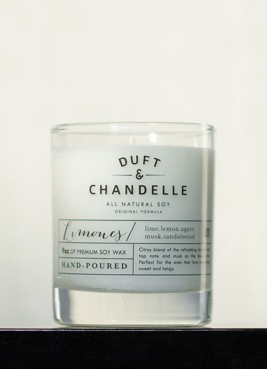 Duft & Chandelle Limones Scented Candle 9oz