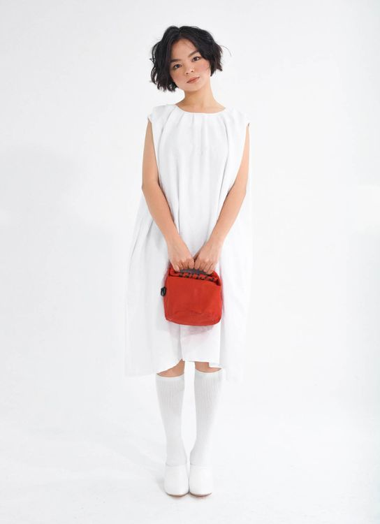 Tees and Scissors White Pome Dress