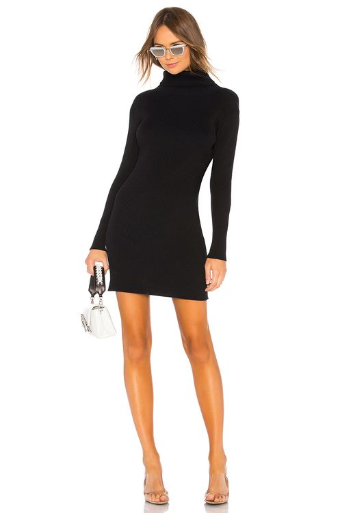 Baja East Turtleneck Tunic Dress