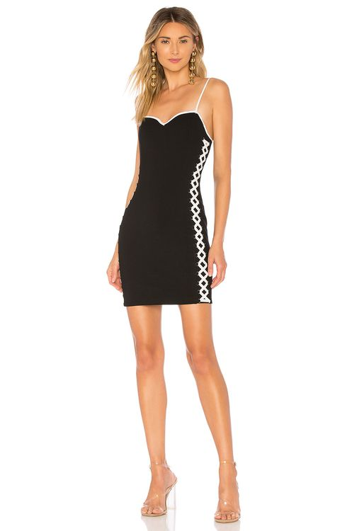 by the way. Val Faux Lace Up Bodycon Dress