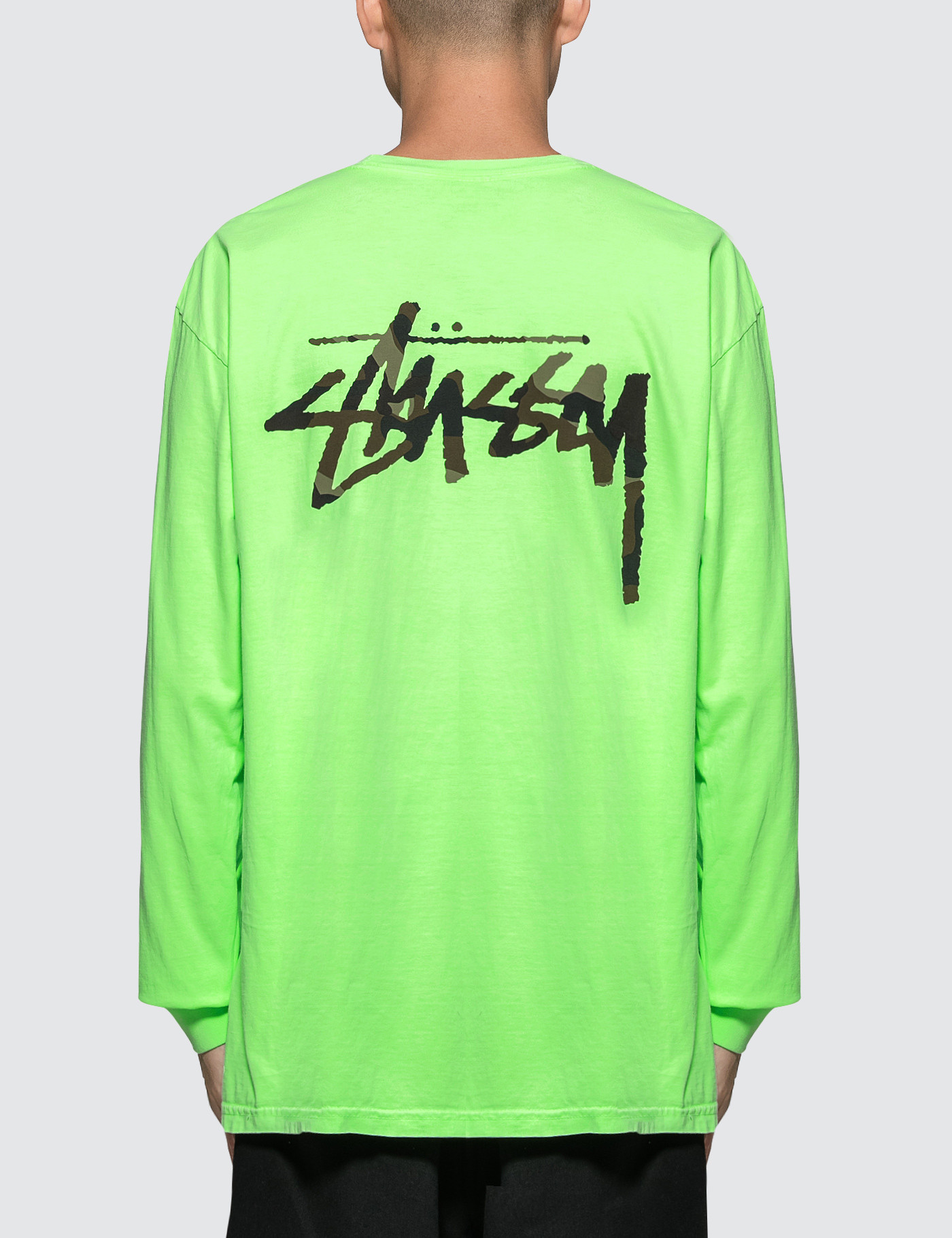 f93ab397 Buy Original Stussy Camo Stock Pig. Dyed Pkt L/S T-Shirt at ...