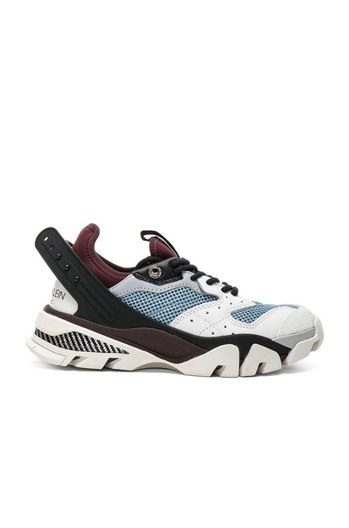CALVIN KLEIN 205W39NYC Leather Carla Sneakers