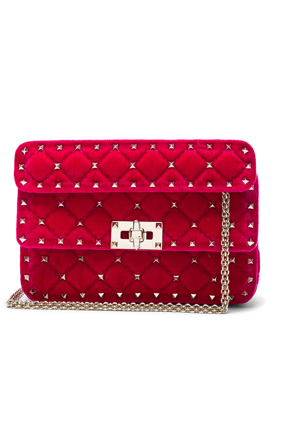 ba6e46a24dc Buy Original Valentino Small Velvet Rockstud Spike Shoulder Bag at ...