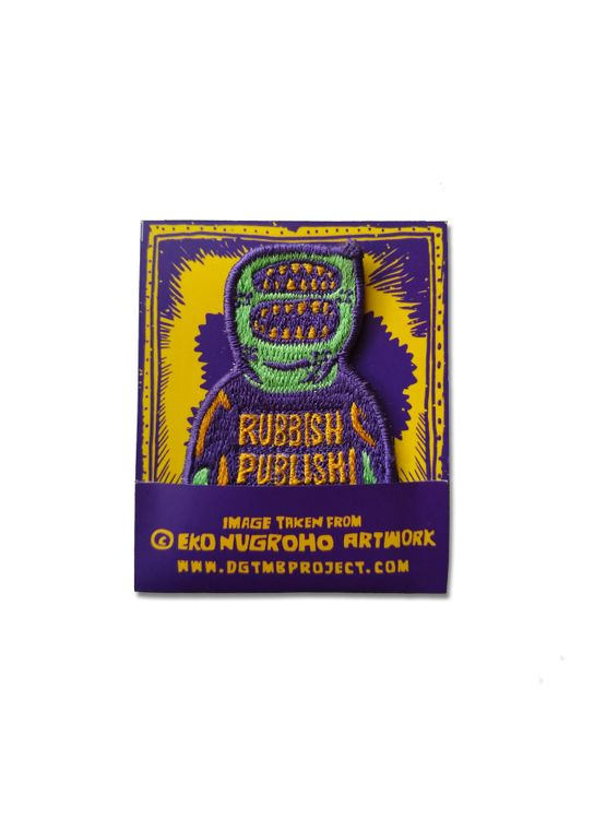 DGTMB by Eko Nugroho Purple DGTMB Rubbish Publish Emblem Patch