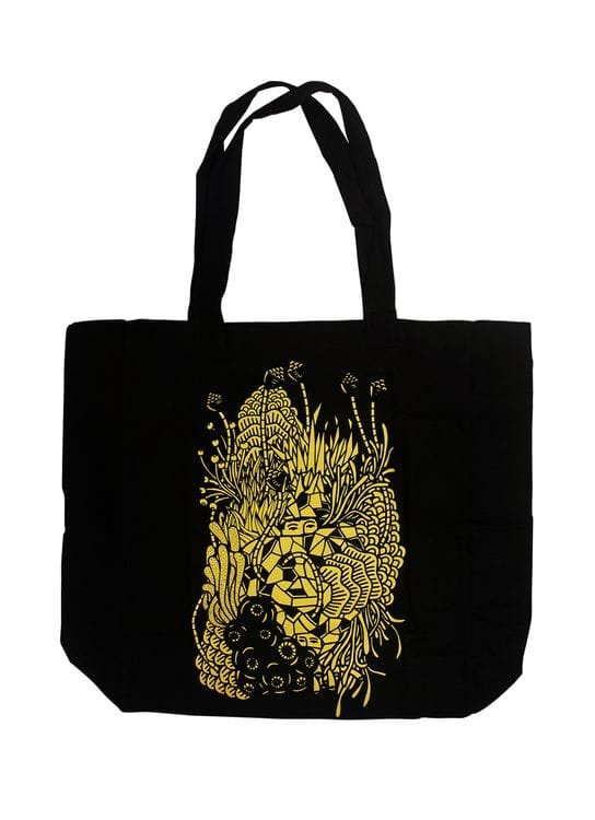 DGTMB by Eko Nugroho Black DGTMB Bouquet of Love (Eko Nugroho x Potato Head) Totebag