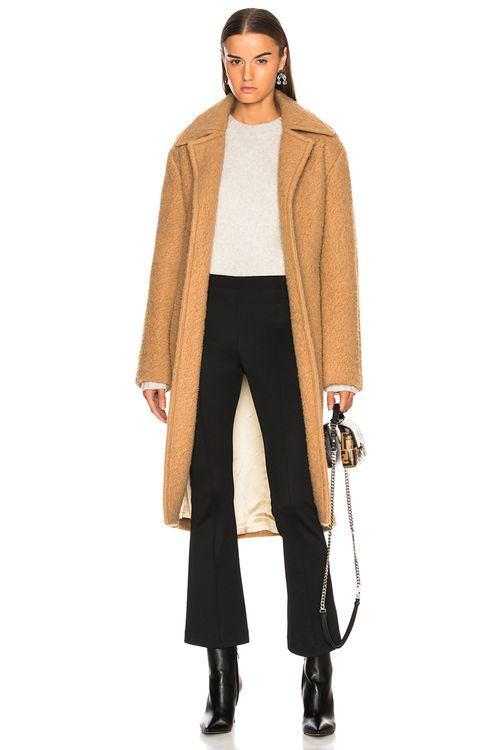 HELMUT LANG Nappy Wool Coat