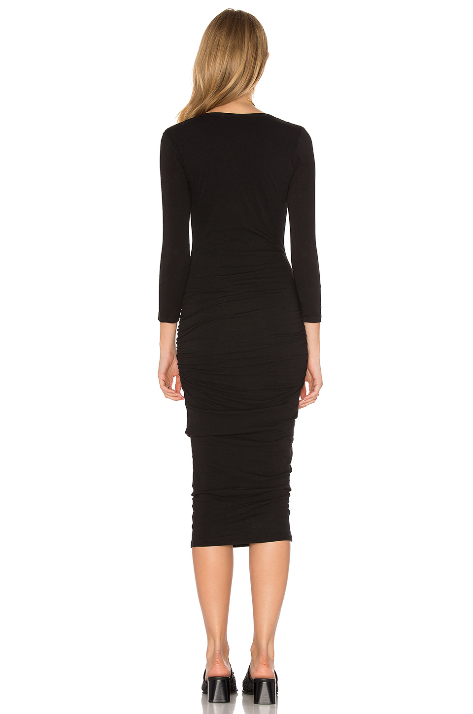 James Perse Classic V-Neck Skinny Dress