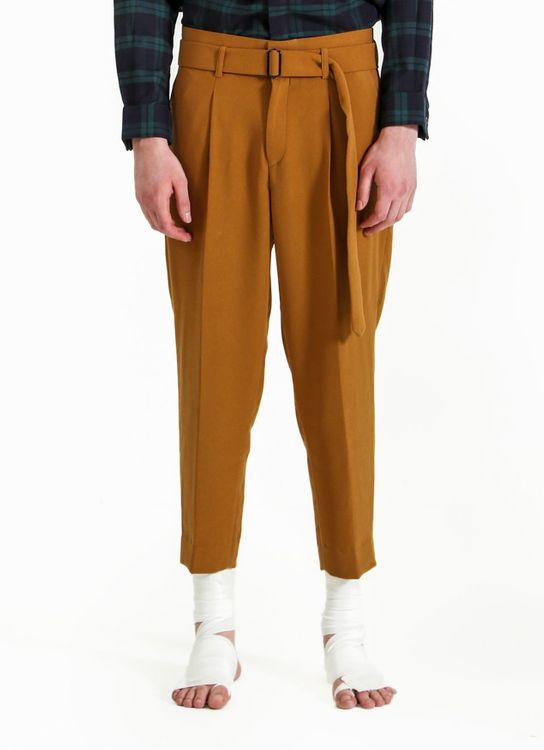 jan sober Mustard Relaxed Pants