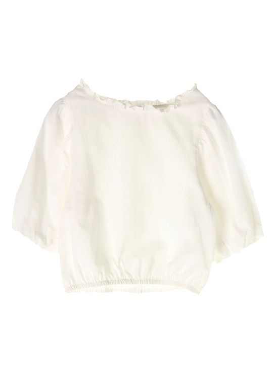 E-hyphen World Gallery White Bridget Ruffle Blouse - Off White