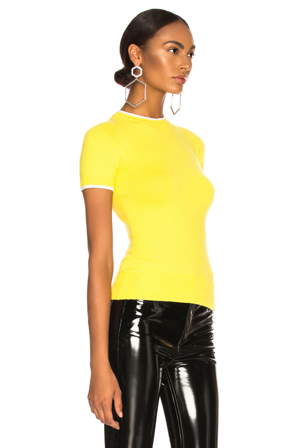 JoosTricot Bodycon Short Sleeve Crew Neck Sweater
