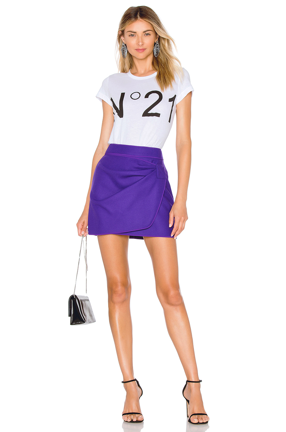 No. 21 Ruched Mini Skirt