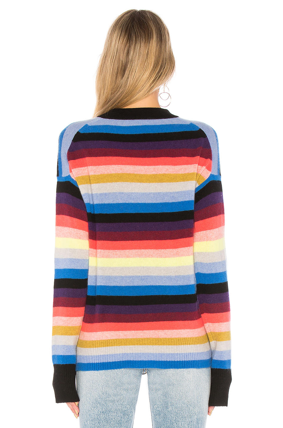 White + Warren Multicolor Stripe Sweater