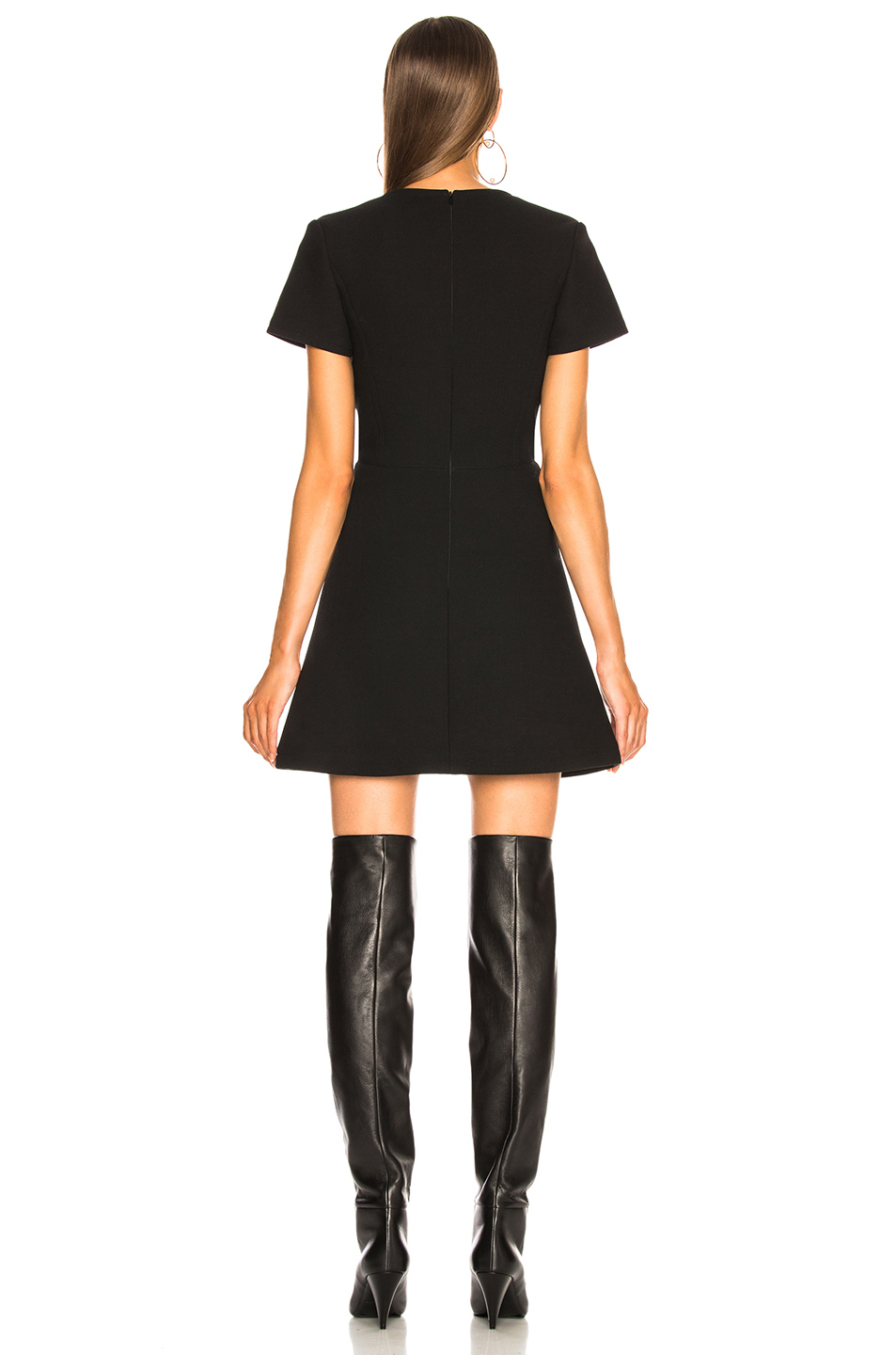 Chloe Double Face Wool Crepe Mini Dress