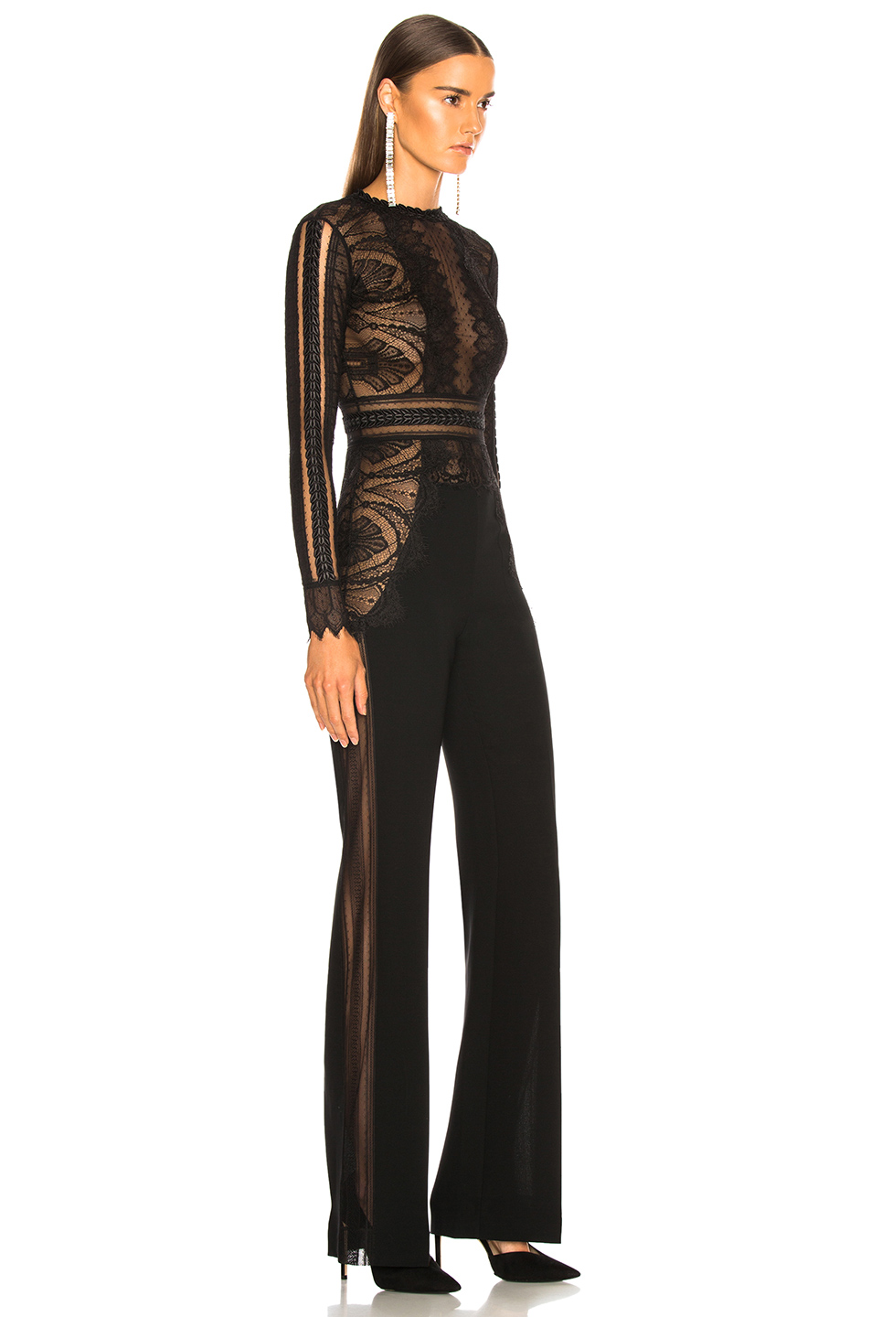 Zuhair Murad Lace Long Sleeve Jumpsuit