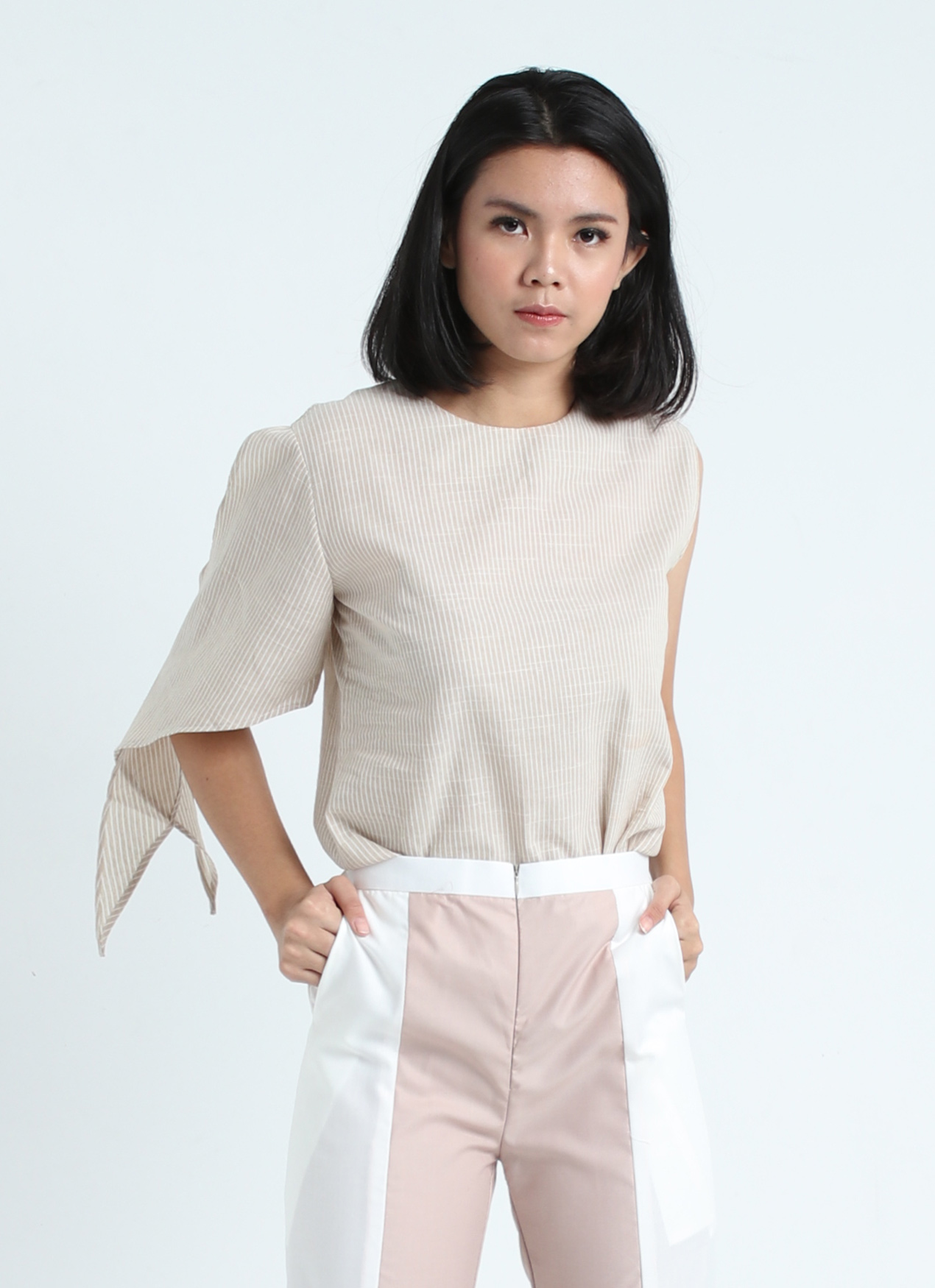 Calla The Label Cream Stripes Jasmine Top