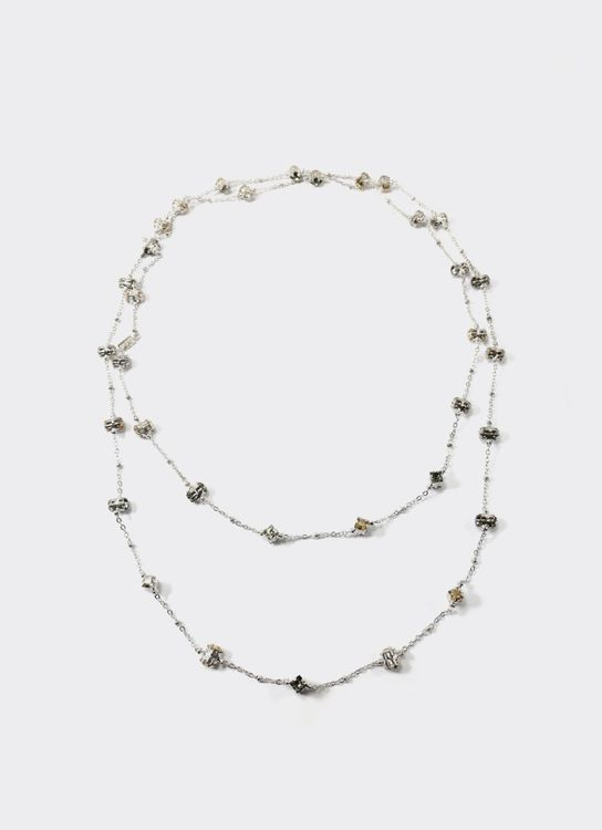 EPAJewel White Rodhium Daily Deco Extra Length Necklace